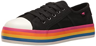 085f6c47657 Rocket Dog Women s Magic Canvas Rainbow Foxing Fashion Sneaker ...