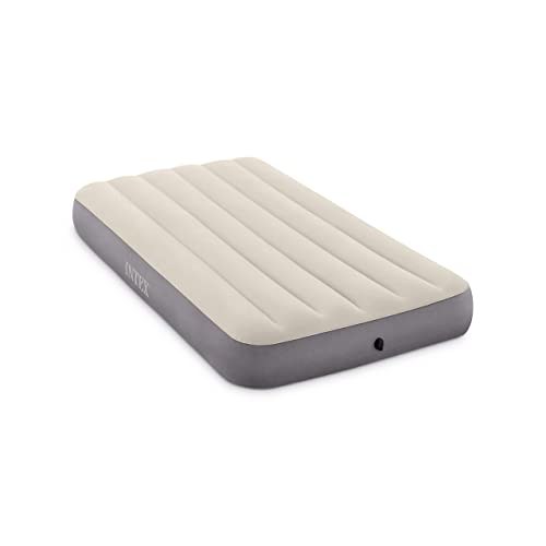 "INTEX Deluxe Single 10"" High Dura-Beam Airbed with Fiber-Tech Construction"