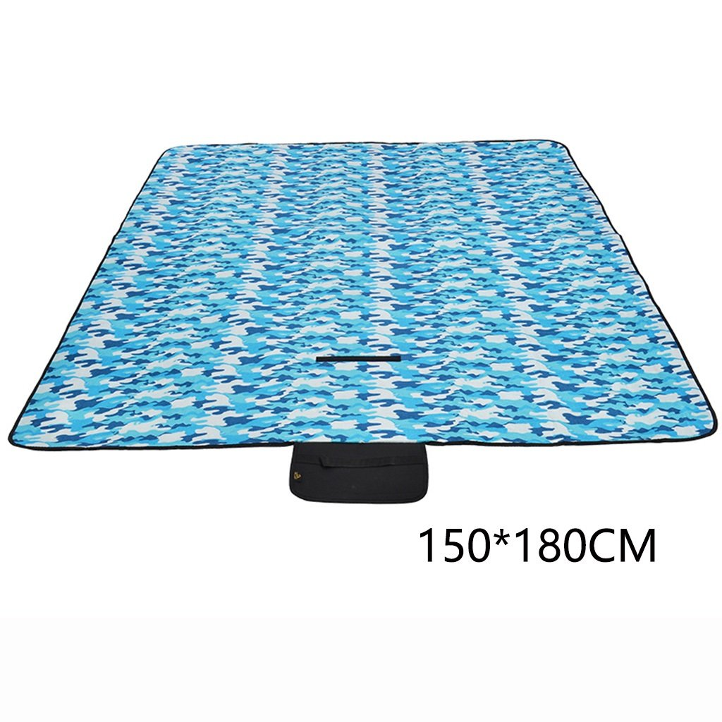 ERRU-Feuchtraum-Pad Camping Pad, Outdoor Portable Feuchtigkeitsfeste Pad Camping Zelt Schlafmatten (150  180CM) Waterproof Feuchtigkeit