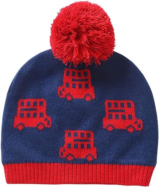 Cute Child Kids Pom Pom Cold Weather Thermal Beanie Hat Winter Warm Knit Cap