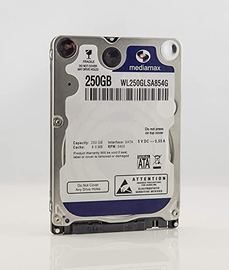 MediaMax 250 GB 2,5 SATA caché de 8 MB WL250GLSA854G Disco Duro ...
