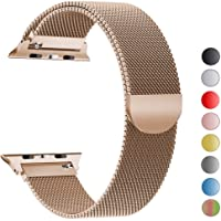 Milanese Loop Bracelet Stainless Steel band For Apple Watch series 1/2/3 42mm 38mm Bracelet strap for iwatch series 4 40mm 44mm (40mm,Rose-gold)