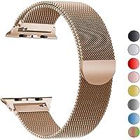 MouKou Compatibile Cinturino per Apple Watch 38mm/40mm/42mm/44mm Series 4/3/2/1 Milanese AcciaioInossidabile con Chiusura Magnetica Regolabile Bracciale