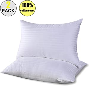TUPHEN- Bed Pillows for Sleeping 2 Pack Queen Hypoallergenic, Cooling Gel Pillows Queen Size, Down Alternative Pillows Soft, Hotel Luxury Reserve Collection Pillow, White (Queen)