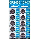 CR2450 リチウムコイン 3V ボタン電池 10 個入