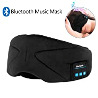 Bluetooth Sleep Eye Mask with Headphones,WUMINGLU Wireless Bluetooth 4.2 Sleeping Eye shades Handsfree Music Headset Built-in Speakers Microphone Washable for Travel Siesta(Upgrade)