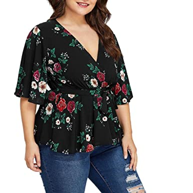 d7bd39f0cd0 Image Unavailable. Image not available for. Color: MEEYA Factory Price 2019 Plus  Size Blouses ...