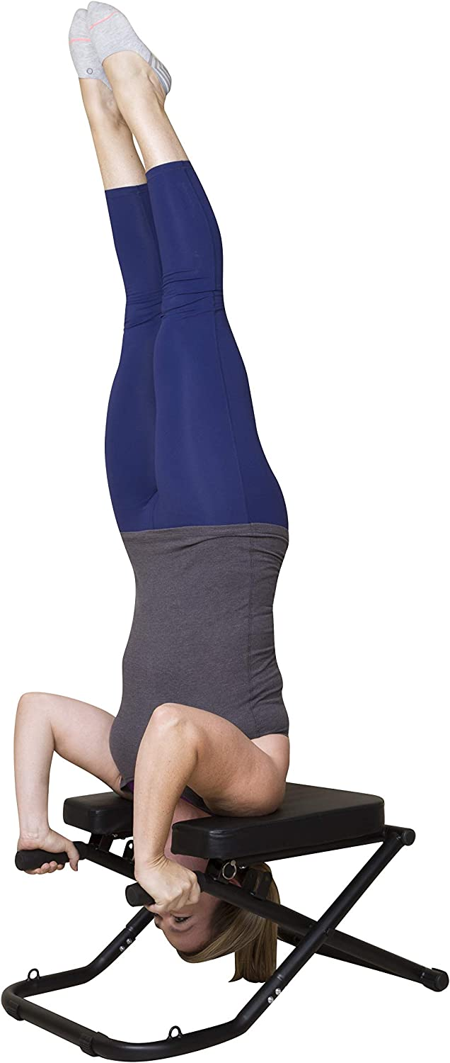 Amazon.com : Inertia Sports Yoga Head Stand Bench - Practice ...