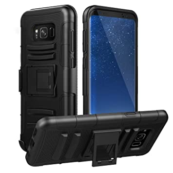 7eacf3ebc47 MoKo Galaxy S8 Plus Case, Shock Absorbing Hard Cover Ultra Protective Heavy  Duty Case with
