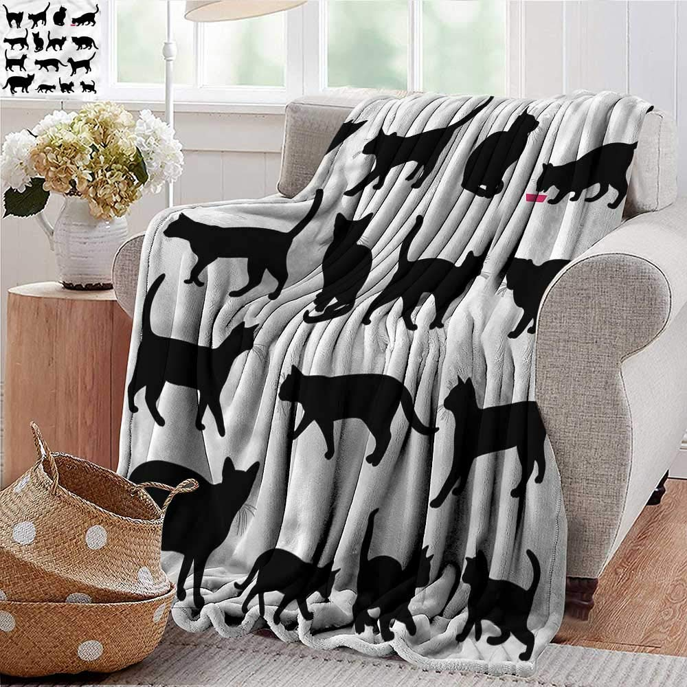 color06 35\ color06 35\ Xaviera Doherty Wearable Blanket Cat,Black Kittens Pets Paws Microfiber All Season Blanket for Bed or Couch Multicolor 35 x60