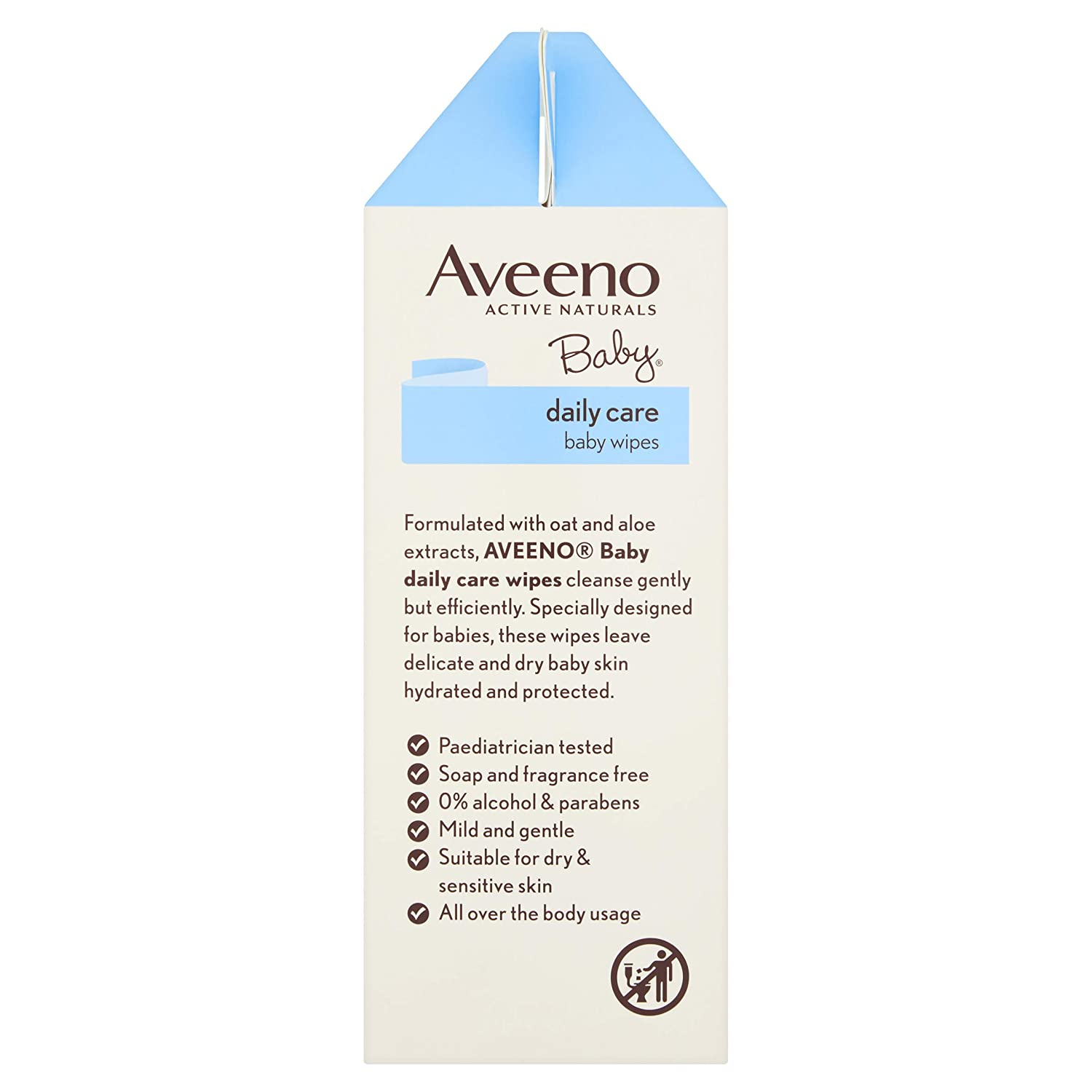 4 Pack Aveeno Baby Wipes 288-Count