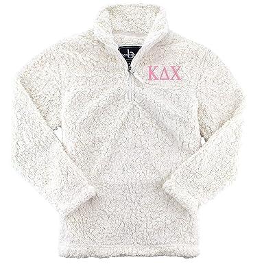 e60a12512c Kappa Delta Chi Sherpa Quarter Zip Pullover at Amazon Women's Clothing store :