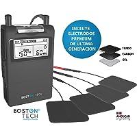 Boston Tech ME-89 plus - Electroestimulador Muscular Digital TENS - EMS digital de dos canales, 24 programas Pre-establecidos ajustables y 8 Electrodos.ideal para tratamiento muscular.