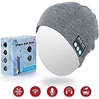 Cappello Bluetooth Regalo di Natale, Bluetooth Cuffie Senza Fili Beanie Berretto Auricolari Wireless 8 Ore di Riproduzione per Sport all'aperto Suono Stereo Microfono Incorporato Unisex