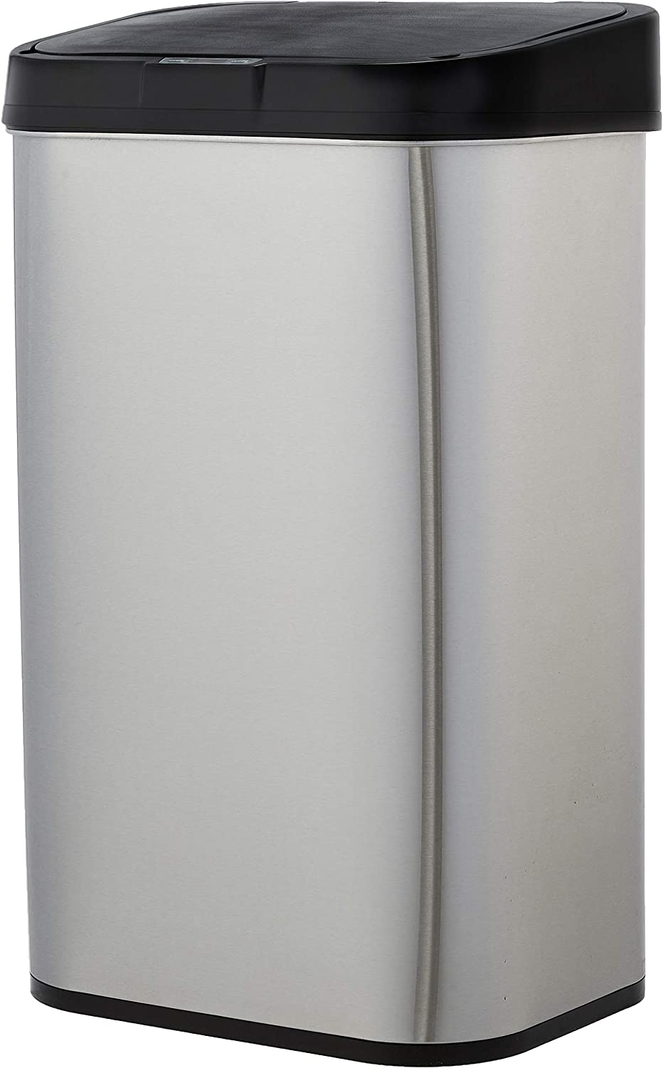 AmazonBasics Automatic Stainless Steel Trash Can - Rectangular, 60-Liter