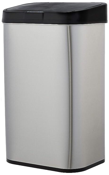 Amazon.com: AmazonBasics - Papelera automática de acero ...