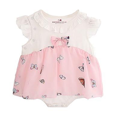 Mädchen Motheramp; Bodyform Baby Kurzarm Kleid Babykleid Mini Child Articles Pn8kX0wO
