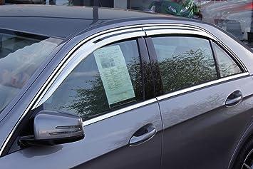 Autoclover Windabweiser Set Für Mercedes E Klasse W212 Ab 2009 4 Teilig Chrom Auto