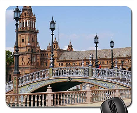 Amazon.com: Mouse Pads - Sevilla Plaza Espana Yard ...
