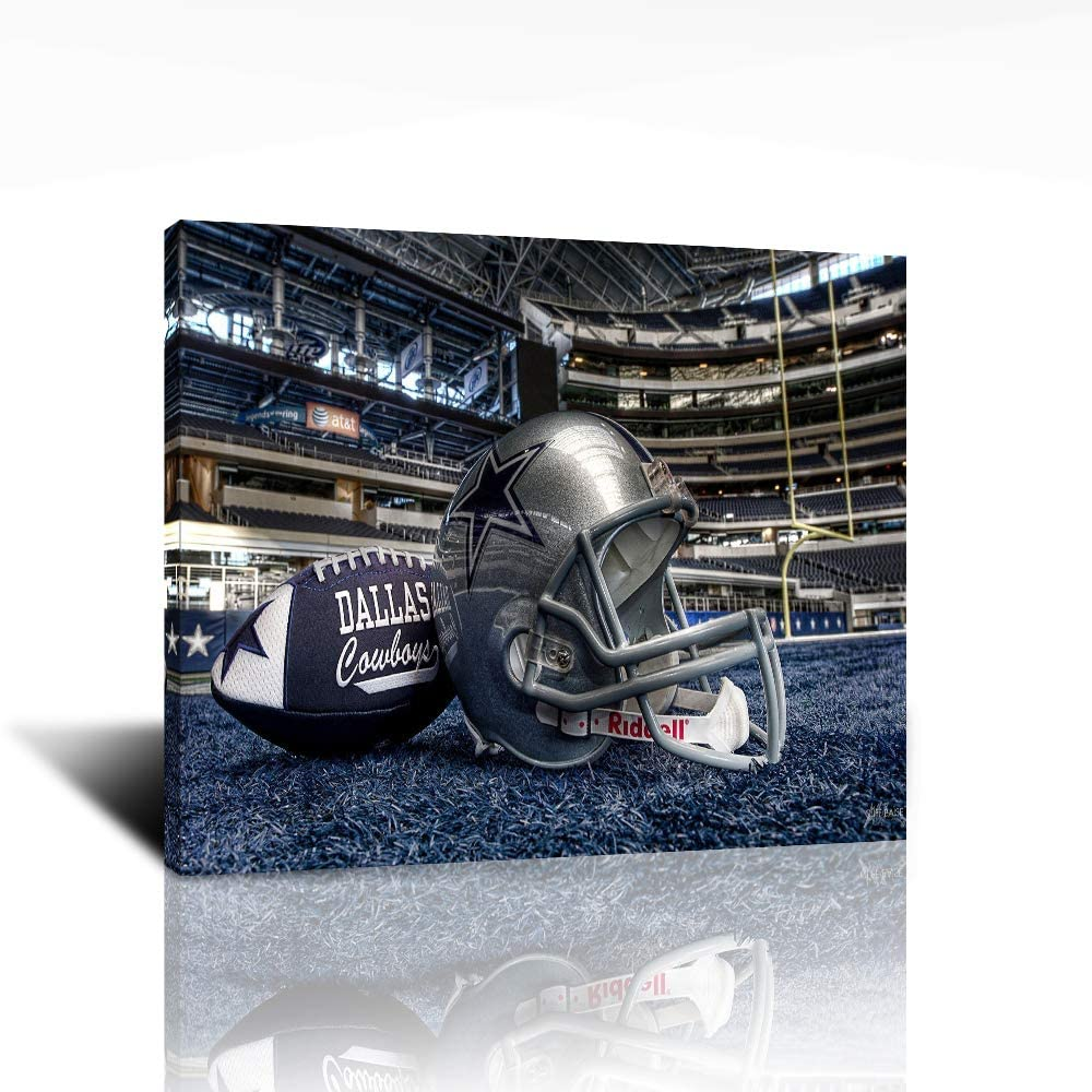 Pangoo Art Dallas Cowboys Poster Wall Decor Print Canvas Painting Picture NFL Wall Art for Home Office Decorations 12 x 16 Ready to Hang