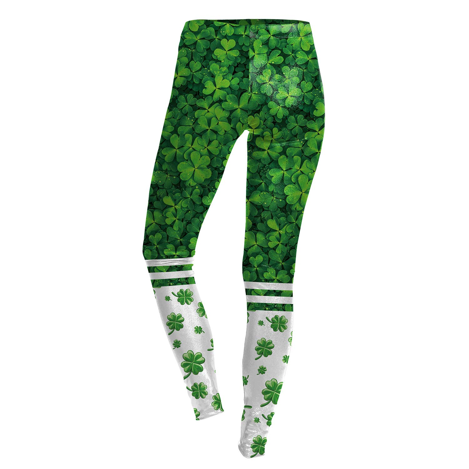 415f5c255baee4 Fyuof St. Patrick's Day Women's Sexy Clover Printed Irish Green Elastic  Leggings Yoga Pants: Amazon.in: Clothing & Accessories