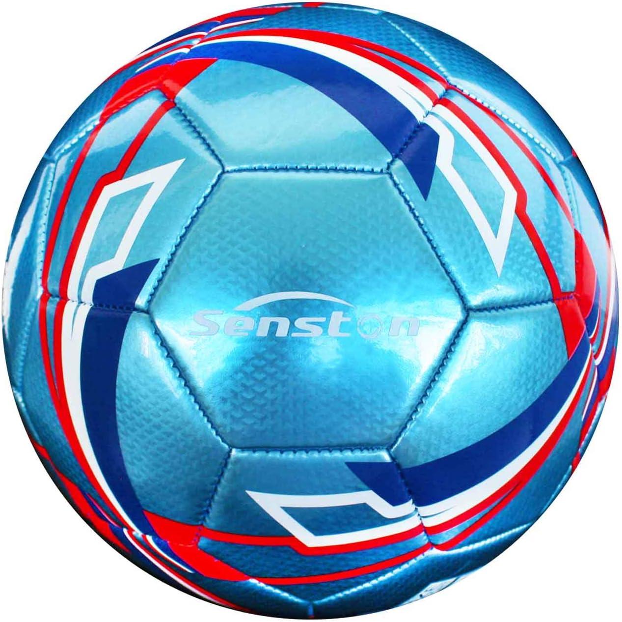 Senston Balones de Futbol Competición Training Balón Maravilloso Lustroso Balones de Fútbol de Entrenamiento Tamaño 5: Amazon.es: Deportes y aire libre