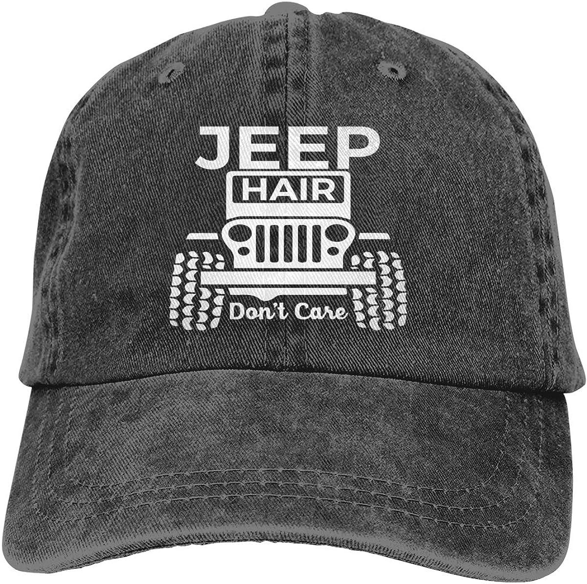 Jeep Hair Dont Care Classic Vintage Denim Cap Adjustable Baseball Hats Unisex