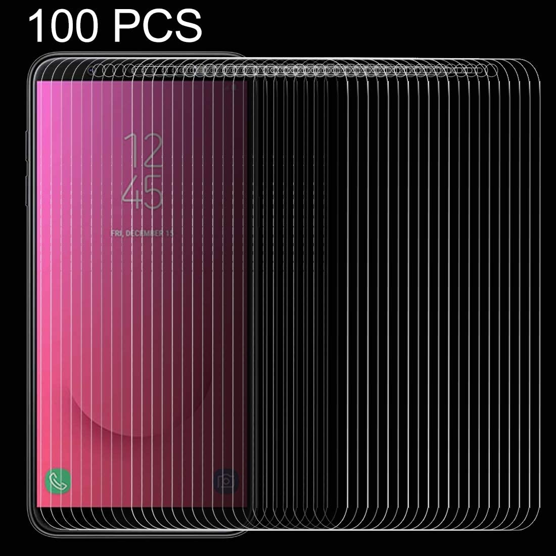 2018 GzPuluz Glass Protector Film 100 PCS 0.26mm 9H 2.5D Tempered Glass Film for Galaxy J8