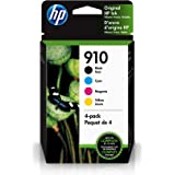 HP 910 | 4 Ink Cartridges | Black, Cyan, Magenta, Yellow | Works with HP OfficeJet 8000 Series | 3YL61AN, 3YL58AN, 3YL59AN, 3