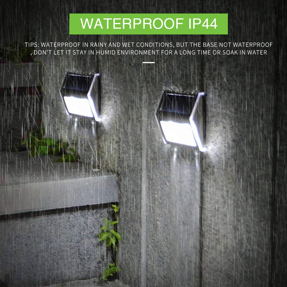 Solar Deck Lights, KASUN Super Bright LED Walkway Light Stainless Steel Waterproof Outdoor Security Lamps for Patio Stairs Garden Pathway (White Light - 12PCS) by KASUN (Image #3)
