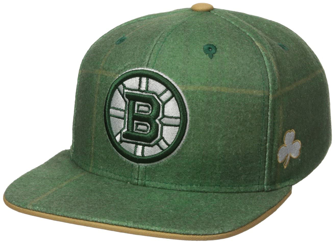 Patricks Day Plaid Flat Brim Snapback Hat Reebok NHL Mens NHL SP17 St
