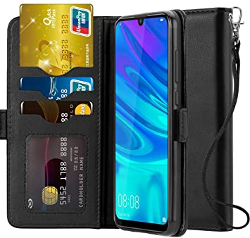 Ferilinso Funda para Huawei P Smart 2019,Carcasa Cuero Prima Auténtico Real con ID Tarjeta de Crédito Tragamonedas Soporte de Flip Cover Estuche de ...