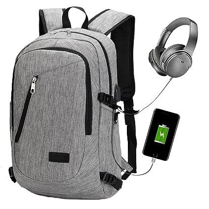 """Mochilas Ordenador Portátil de hasta 15.6"""" Mochilas de Carga USB Unisex Mochilas Portatil para trabajo"""