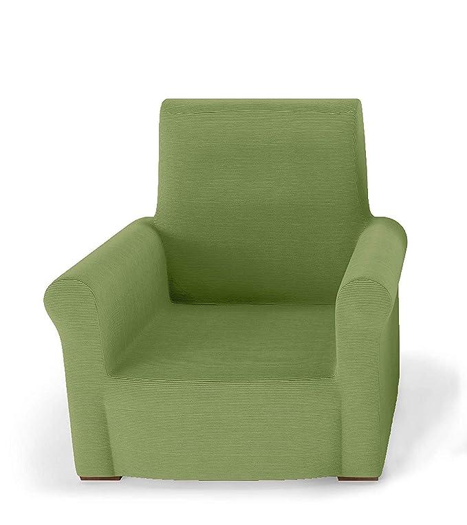 PETTI Artigiani Italiani Verde, Relax, Funda Sillon Elastica, 100% Made in Italy, 80 a 100 cm