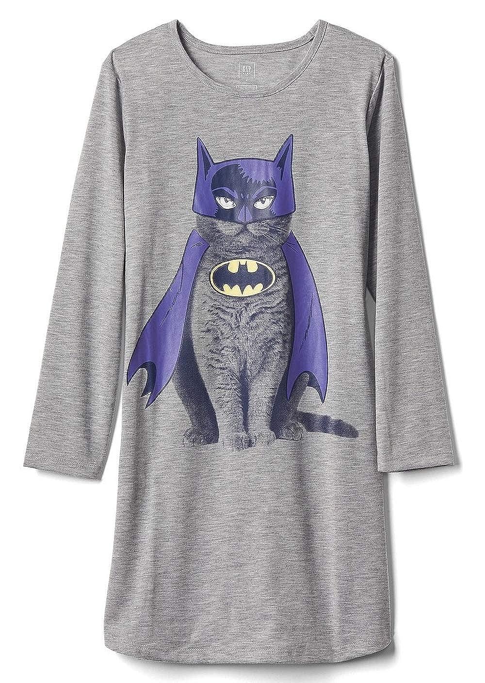 Batman Cat Nightgown Girls Size 8 Batgirl Gown Gray