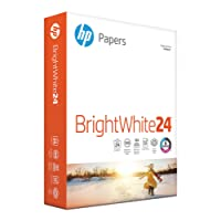 HP Printer Paper, Bright White InkJet Copy Paper, 24lb, 8.5 x 11, Letter, 97 Bright - 1 Pack / 500 Sheets (203000R)