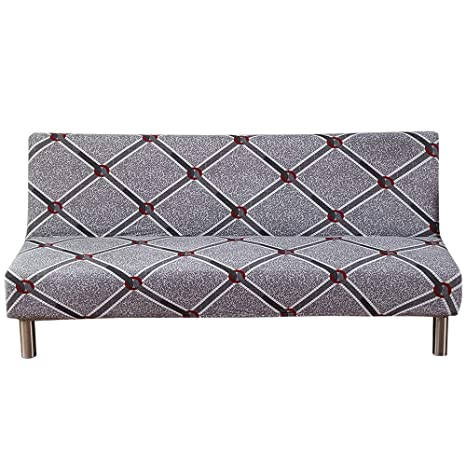 Amazon.com: MIFXIN Armless Sofa Cover Stretch Sofa Bed ...