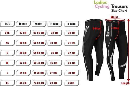 para mujer pantalones t/érmicos para andar en bicicleta Mallas de ciclismo acolchadas de invierno