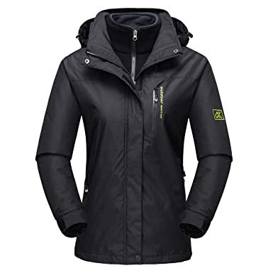 88ec18ec680e MAGCOMSEN Women s Winter 3 in 1 Jacket Windproof Hooded Softshell ...