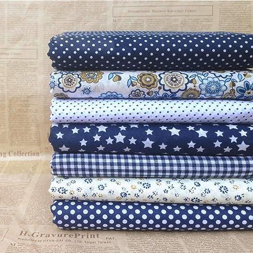 Ogquaton 7PCS / Set Impresión Mixta 25 * 25cm Telas Florales para Materiales de Costura Patchwork Acolchado Scrapbooking Paño de algodón: Amazon.es: Hogar