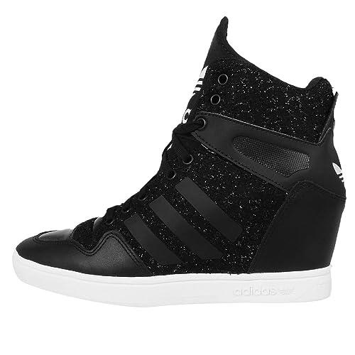 a2ce243e7296 adidas Originals Women s M Attitude Up Black and White Leather ...