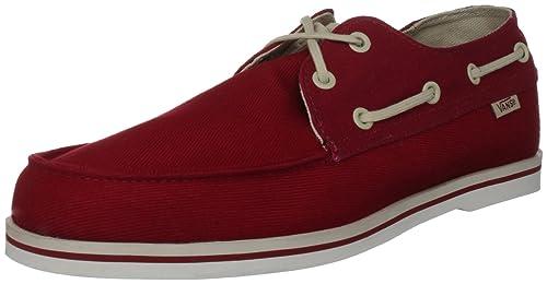 Vans M Foghorn (Twill), Mocasines para Hombre, Rojo, 46 EU: Amazon.es: Zapatos y complementos