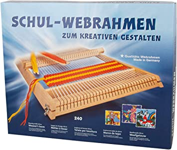 53,5 x 42 cm, Holz Rayher 7202300 Schul-Webrahmen Allgäuer Webrahmen