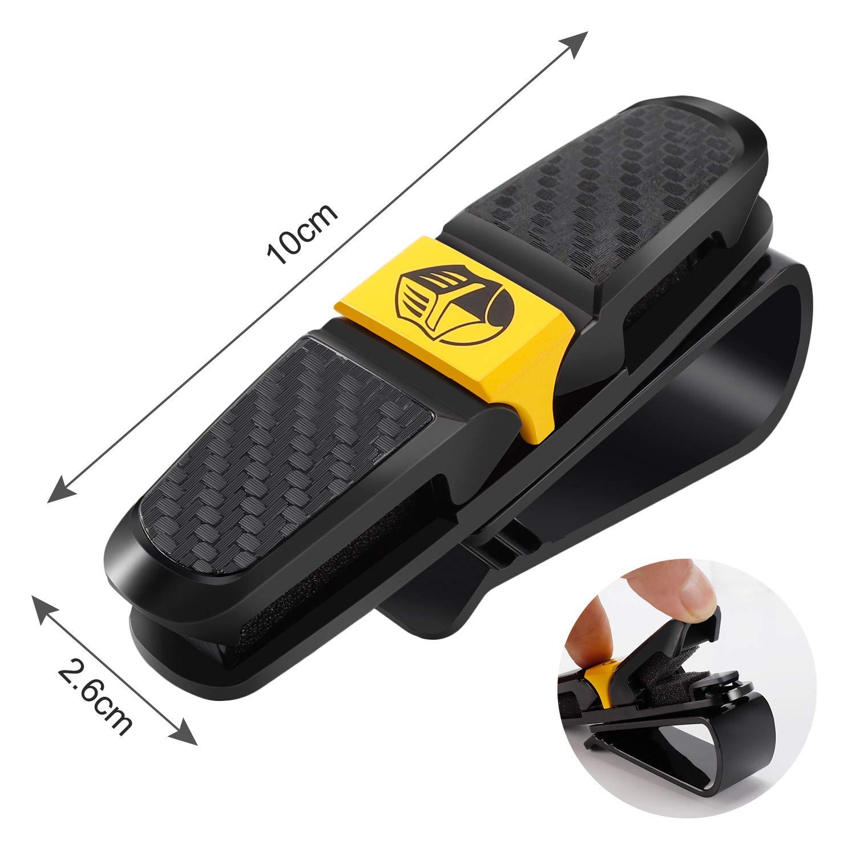 2 Pack Universal Sun Visor Double Clip Organizer BLUPOND Sunglasses Holder for Car