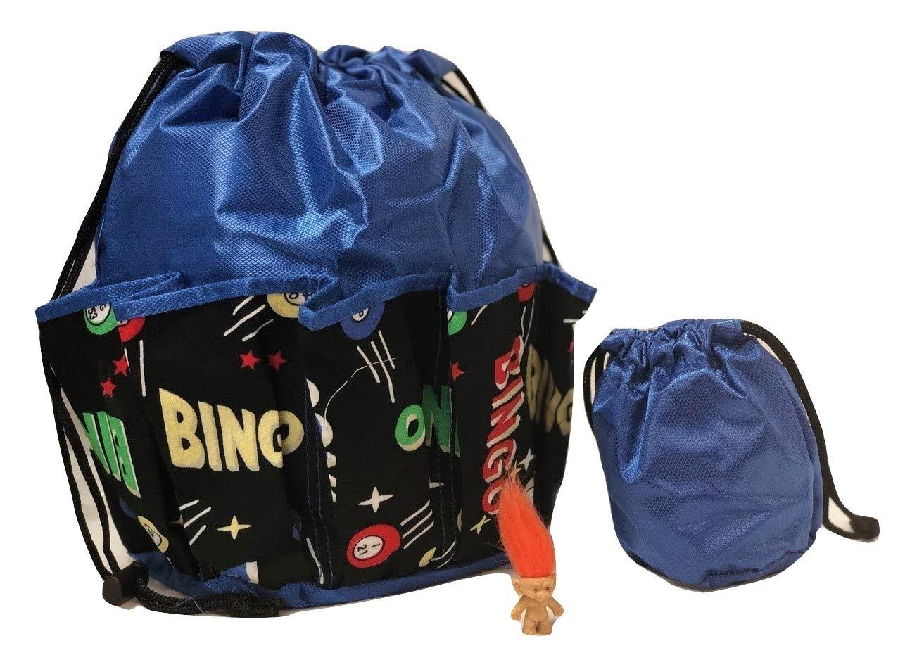 【予約販売品】 National Bingo Bingo B0719JQFNT 10ポケットドローストリングBingoバッグ「Bingoスペース」 B0719JQFNT National ブルー, 安富町:fe8a0d88 --- arianechie.dominiotemporario.com