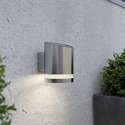 SolarCentre - Lámpara Solar de Pared Exterior, Gris: Amazon.es: Jardín