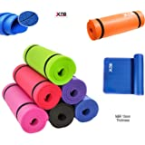 Xn8 15mm NBR Yoga Mat Aerobic Camping Pilates Gym Padded Thick Non Slip Gymnastic Exercise Mat with Straps