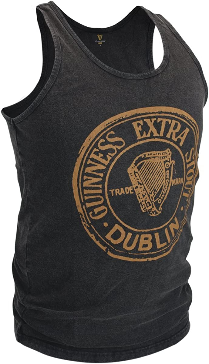Guinness Black Washed Extra Stout Tank Top- Sizes Small -XXXL