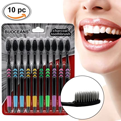 Cepillo de dientes, Cepillos manuales, pack de 10 Para Cepillos De Dientes Con limpiador
