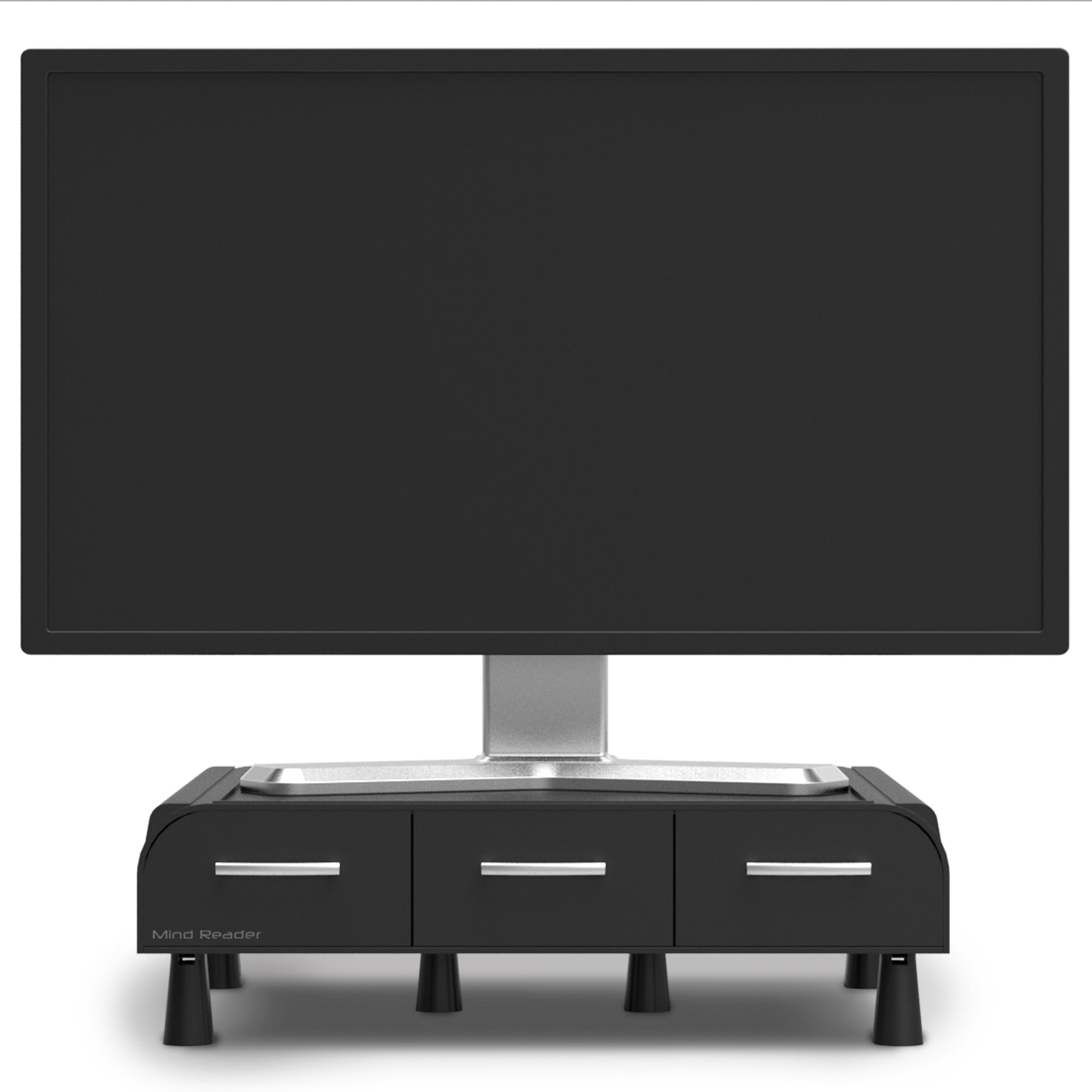 Mind Reader PC, Laptop, IMAC Monitor Stand and Desk Organizer, Black by Mind Reader (Image #3)